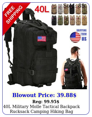 l military molle tactical backpack rucksack camping hiking bag outdoor trave