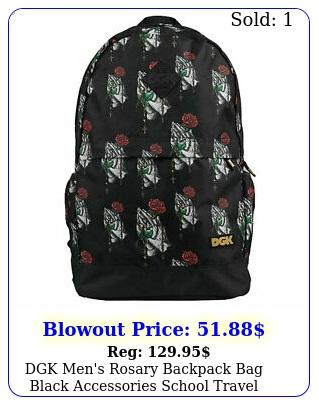dgk men's rosary backpack bag black accessories school travel good qualit