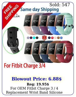 oem fitbit charge  replacement wrist band silicone bracelet watch rat