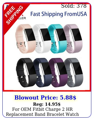 oem fitbit charge hr replacement band bracelet watch rate fitnes