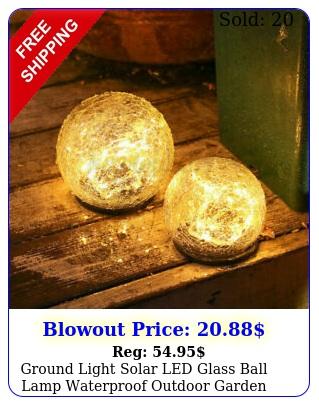 ground light solar led glass ball lamp waterproof outdoor garden yard path deco