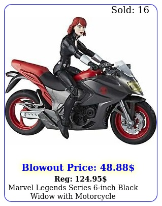 marvel legends series inch black widow with motorcycl