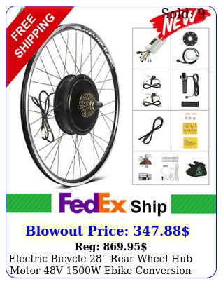 electric bicycle '' rear wheel hub motor v w ebike conversion ki