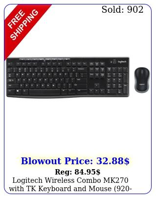 logitech wireless combo mk with tk keyboard mouse bran