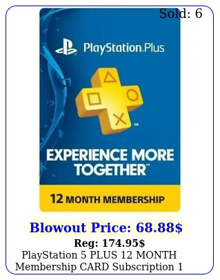 playstation plus month membership card subscription year psn ps ps p
