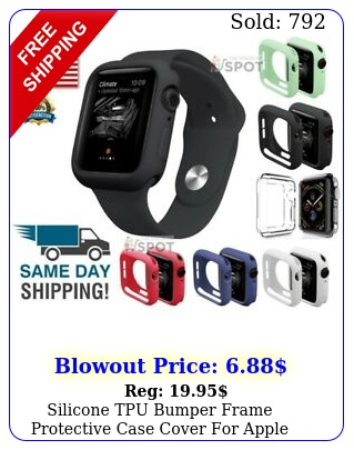 silicone tpu bumper frame protective case cover apple watch series  s