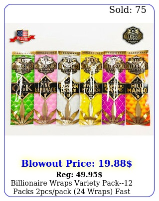 billionaire wraps variety pack packs pcspack wraps fast shippin