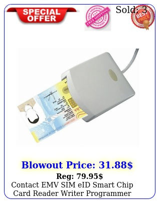 contact emv sim eid smart chip card reader writer programmer with pc