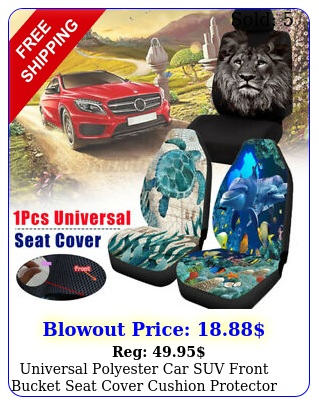 universal polyester car suv front bucket seat cover cushion protector cove