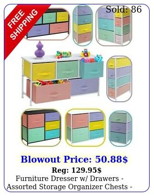 furniture dresser w drawers assorted storage organizer chests pastel medle
