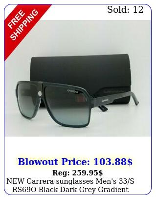 carrera sunglasses men's s rso black dark grey gradient authentic men'