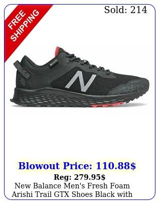 balance men's fresh foam arishi trail gtx shoes black with gre