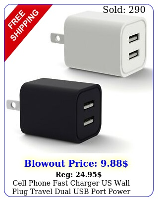 cell phone fast charger us wall plug travel dual usb port power adapter chargin