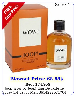 joop wow by joop eau de toilette spray oz me