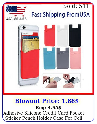 adhesive silicone credit card pocket sticker pouch holder case cell phon