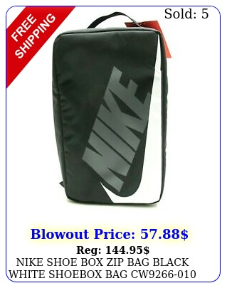 nike shoe zip bag black white shoebox bag c