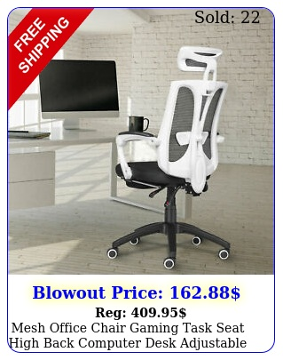 mesh office chair gaming task seat high back computer desk adjustable recline