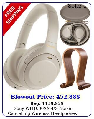 sony whxms noise cancelling wireless headphones  wood headphone stan