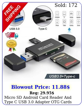 micro sd android card reader type c usb adapter otg cards tf sdxc s