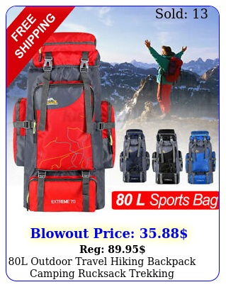 l outdoor travel hiking backpack camping rucksack trekking waterproof bag pac