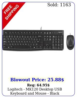 logitech mk desktop usb keyboard mouse blac