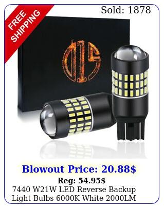 ww led reverse backup light bulbs k white lm super brigh
