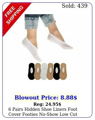 pairs hidden shoe liners foot cover footies noshow low cut socks ballet fla