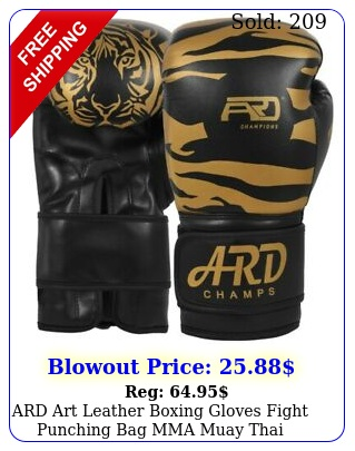ard art leather boxing gloves fight punching bag mma muay thai kickboxin