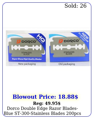 dorco double edge razor bladesblue ststainless blades pc