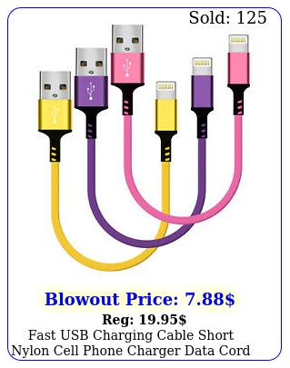 fast usb charging cable short nylon cell phone charger data cord iphon