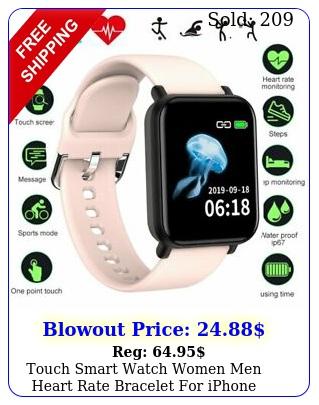 touch smart watch women men heart rate bracelet iphone android waterproof u