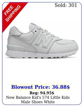 balance kid's little kids male shoes whit