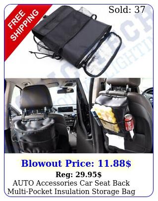 auto accessories car seat back multipocket insulation storage bag organize