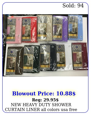 heavy duty shower curtain liner all colors usa free shippin