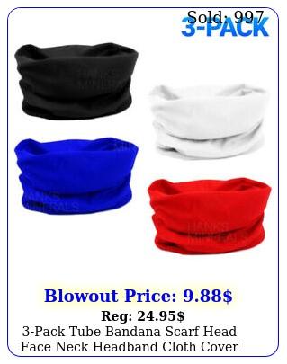 pack tube bandana scarf head face neck headband cloth cover multi use gaite