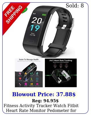 fitness activity tracker watch fitbit heart rate monitor pedometer women me