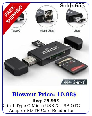 in type c micro usb usb otg adapter sd tf card reader samsung phon