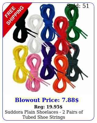 suddora plain shoelaces  pairs of tubed shoe string