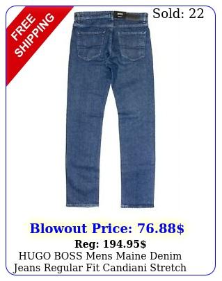 hugo boss mens maine denim jeans regular fit candiani stretch blue msr