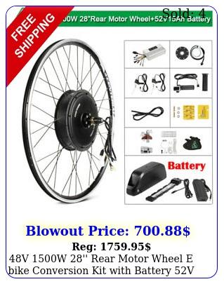 v w '' rear motor wheel e bike conversion kit with battery v a
