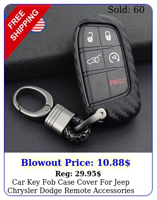 car key fob case cover jeep chrysler dodge remote accessories carbon fibe