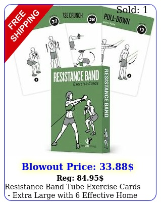 resistance band tube exercise cards extra large with effective home work