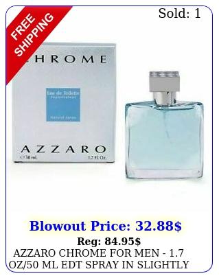 azzaro chrome men  oz ml edt spray in slightly roug