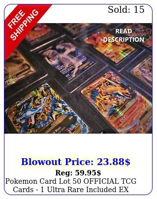 pokemon card lot official tcg cards  ultra rare included ex mega gx v et