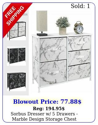sorbus dresser w drawers marble design storage chest organizer uni