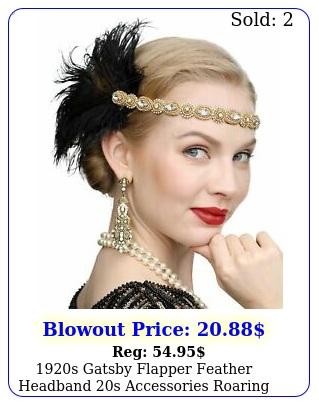 s gatsby flapper feather headband s accessories roaring s headpiece