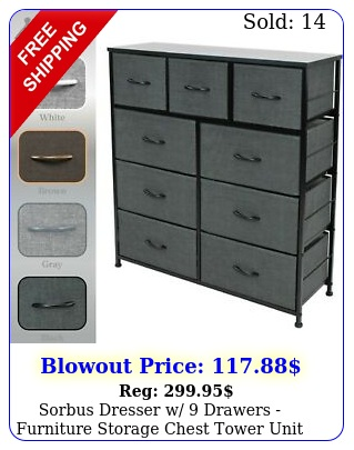sorbus dresser w drawers furniture storage chest tower unit bedroo