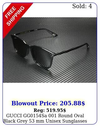 gucci ggsa round oval black grey mm unisex sunglasse
