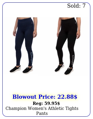 champion women's athletic tights pant