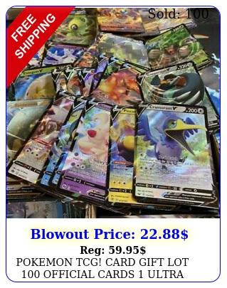 pokemon tcg card gift lot official cards ultra rare included v gx ex meg